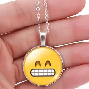 Emoji 'Excited' Pendant & Necklace/Chain